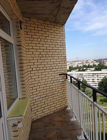 Будапештская ул. - фото балкона до отделки